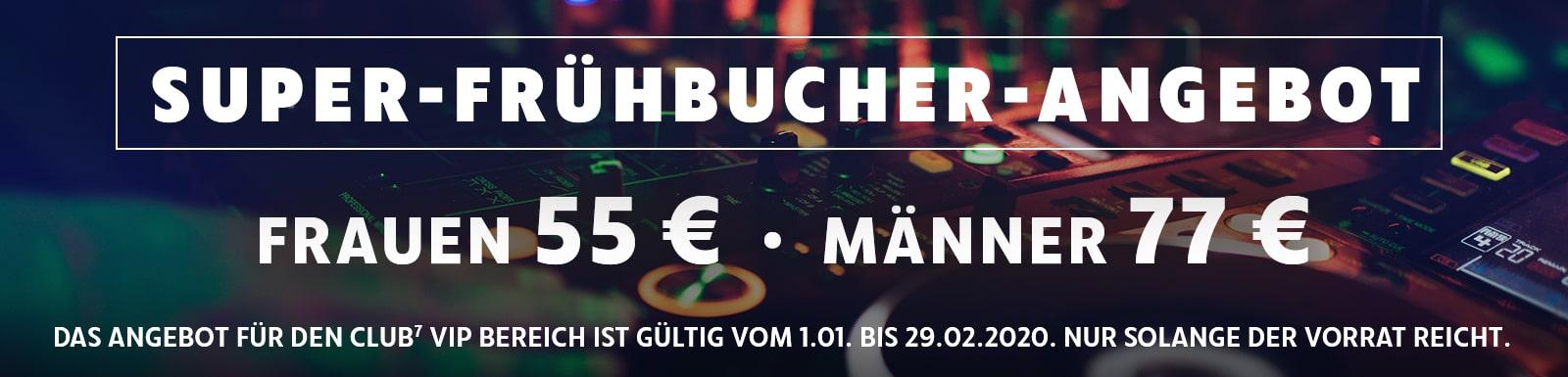 Banner Super Frühbucher Angebot